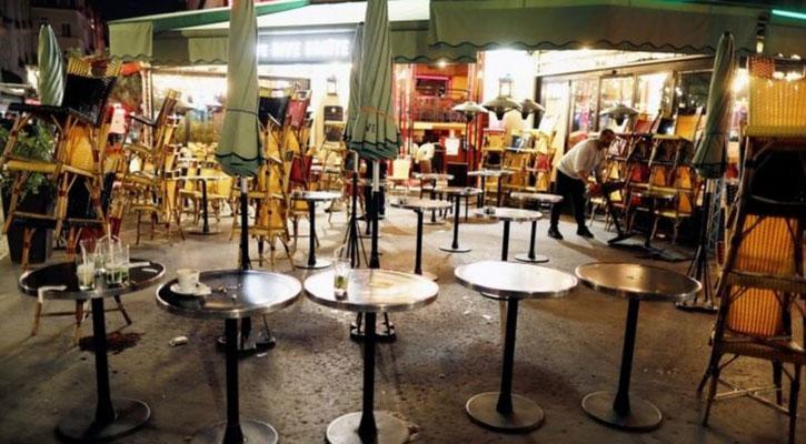 Empty streets in France as curfew enforced