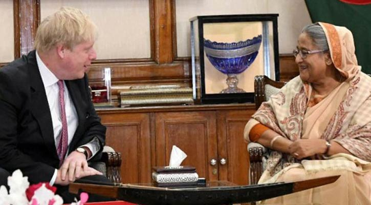 PM Hasina wishes UK PM speedy coronavirus recovery
