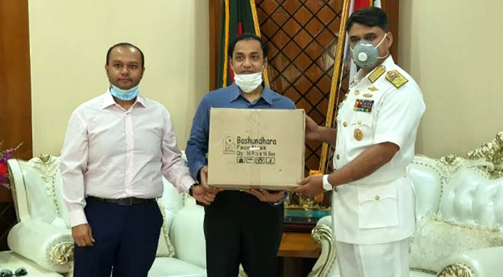 Bashundhara Group provides masks, PPE, food for navy
